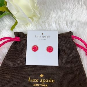 Kate Spade Jewel Bar Stud Earrings Pink NWT